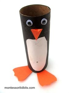 penguin TP toilet paper loo roll craft