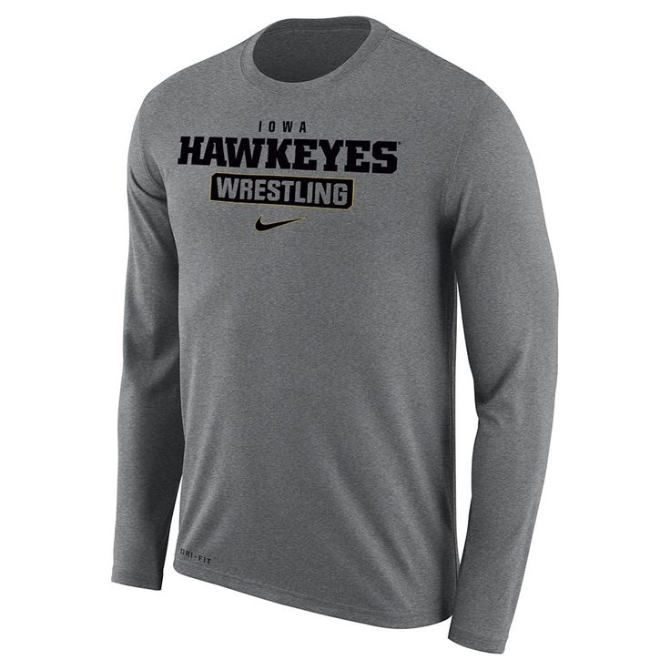 Iowa Hawkeyes Wrestling Nike Dri-Fit Legend 2.0 Long Sleeve