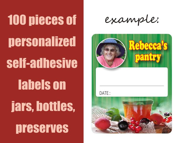 100 pieces of personalized self-adhesive labels on jars, bottles, homemade preserves, customisable, pantry labels, stickers by pentaxPL on Etsy