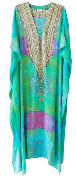 Camilla Franks Beaded Island Antigua Beaded Caftan Kaftan