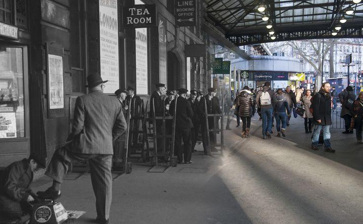Londres antes y ahora Victoria Station