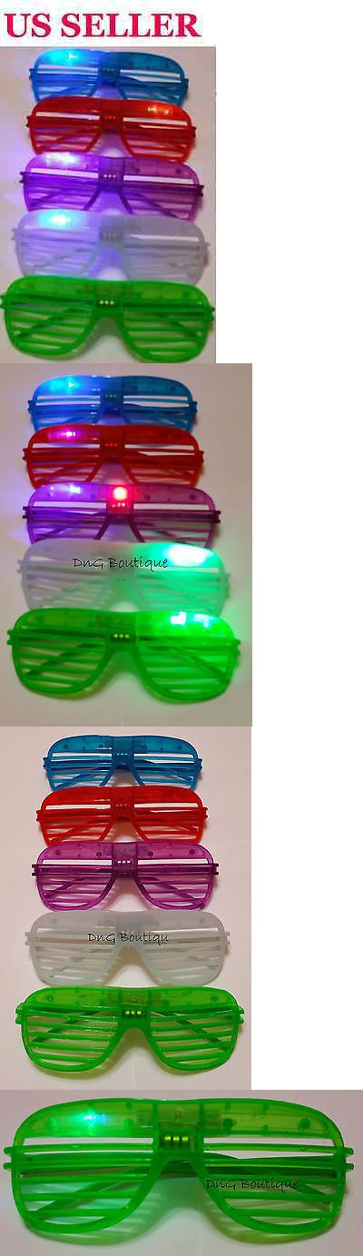 Favors and Party Bag Fillers 26385: 200 Pcs Led Shutter Glasses Light Up Shades Flashing Rave Wedding Party Supplies -> BUY IT NOW ONLY: $179.88 on eBay!