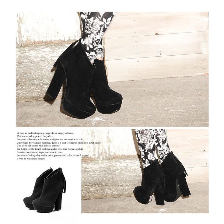 High-heeled booties