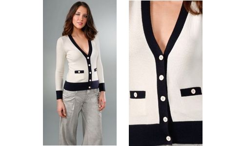 Google Image Result for http://modculture.typepad.com/photos/uncategorized/2008/07/10/cardigan.jpg: Chanel Lovers, Classic Coco, Buttons Sweaters, Cardigans Chanel, Google Search, Coco Chanel Style, Classic Cardi, Cardigans Jpg 500 300, Classic Chanel