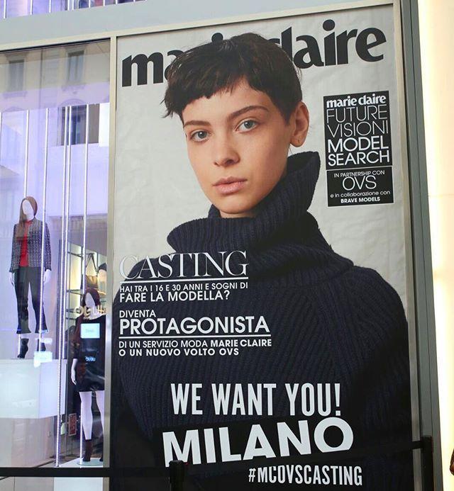 MILANO!!   LAST CALL!!! Il tuo sogno è fare la modella? Ti stiamo cercando insieme a OVS e Brave Models per il progetto MCMODELSEARCH. Se hai un'età compresa tra i 16 e i 30 anni presentati oggi nel negozio OVS di Corso B. Aires 21 a Milano fino alle ore 20. Ti aspettiamo! Non perdere questa occasione | #mcovscasting #ovs #bravemodels #mcmodelsearch #marieclaireitalia  via MARIE CLAIRE ITALIA MAGAZINE OFFICIAL INSTAGRAM - Celebrity  Fashion  Haute Couture  Advertising  Culture  Beauty…