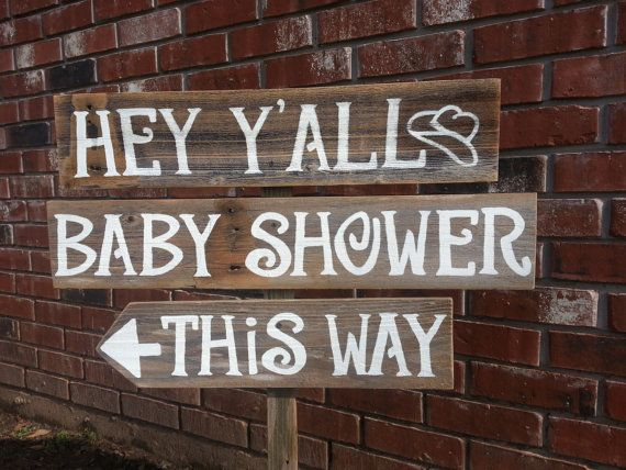 2 Boards. No Stake. Cowboy Baby ShowerBaby ...