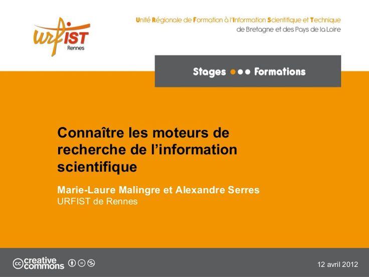 Les moteurs de recherche scientifique by URFIST de Rennes  via slideshare