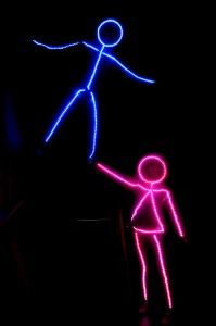 led stick figure costume CH