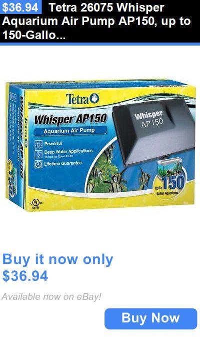 Animals Fish And Aquariums: Tetra 26075 Whisper Aquarium Air Pump Ap150, Up To 150-Gallon BUY IT NOW ONLY: $36.94
