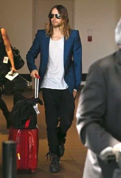 Jared Leto Departing On A Flight At LAX / 12