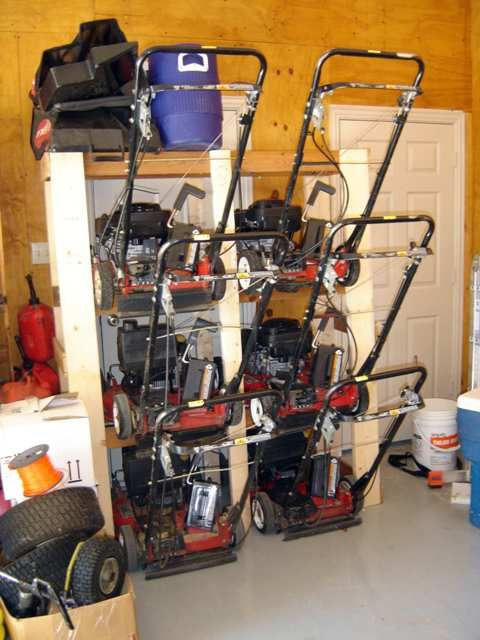 My Quot Lawn Mower Ladder Quot Mower Storage Lawn Equipment