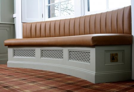 Curved Window Seat Radiator Cover Dining Room For The