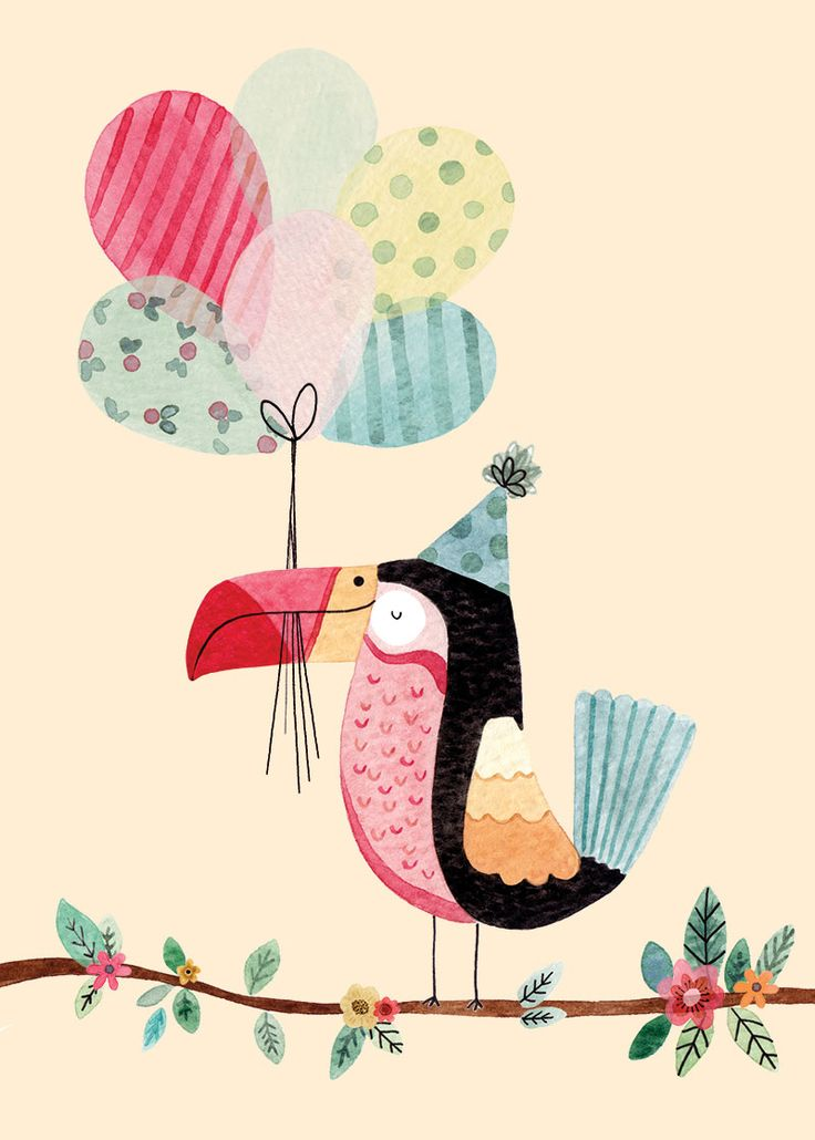 Toucan-with-balloons.jpg 800×1,120 pixeles