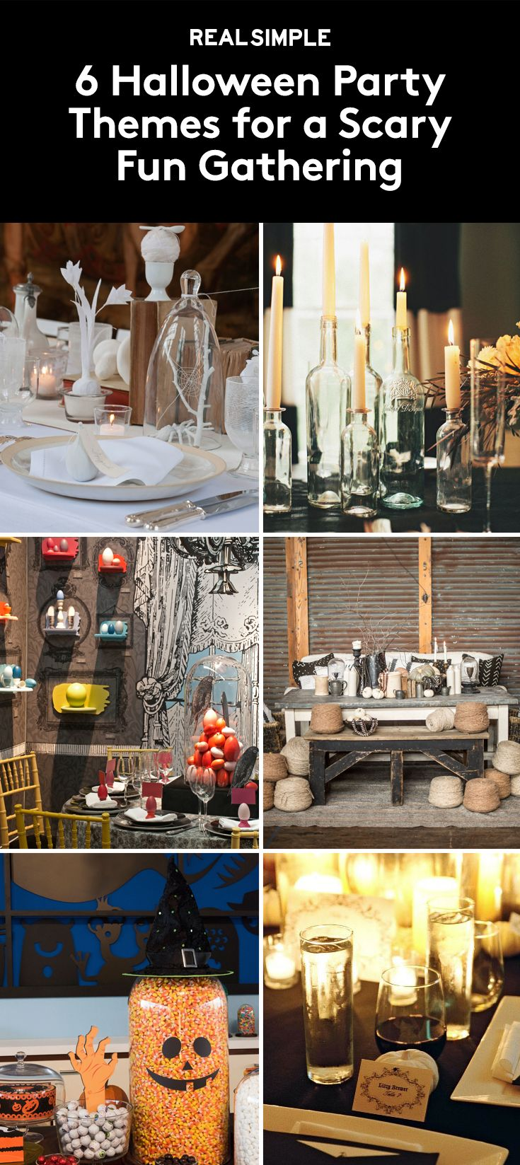 6 Halloween Party Themes for a Scary Fun Gathering | If you're planning to host a Halloween bash this year, why not think a little outside the box? And by box, we mean the traditional orange and black color scheme, spiders and fake cobwebs on the walls, cauldrons filled with dry ice, and yards and yards of creepy cloth.
