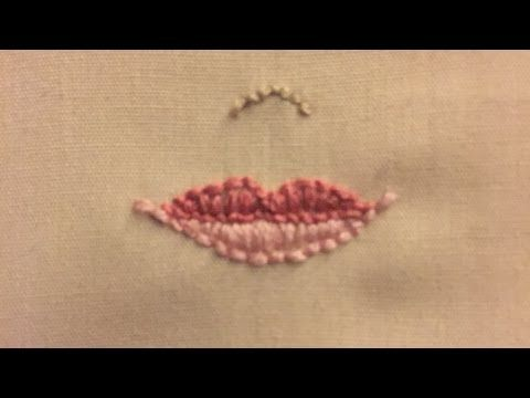 How To Embroider Beautiful Doll Lips - DIY Crafts Tutorial - Guidecentral - YouTube