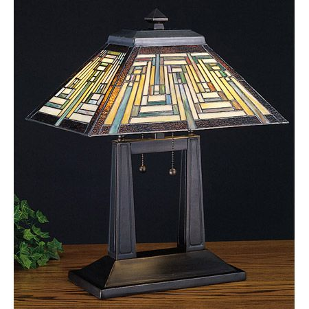 Nuevo stained glass craftsman desk lamp.