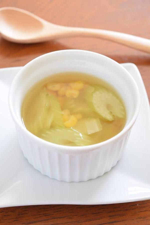 セロリとコーンのスープ by 豊田 亜紀子   レシピサイト「Nadia ...