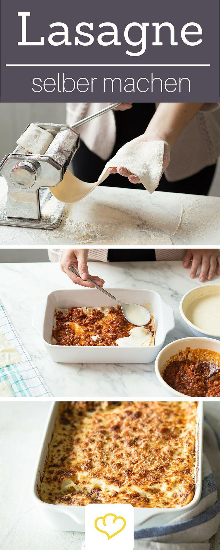 Alles hausgemacht: so macht ihr Lasagne zuhause selber. Alles step by step erklärt!