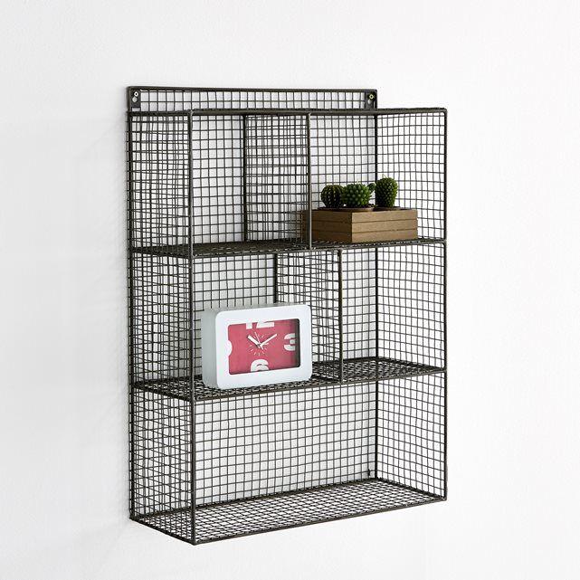 Étagère à suspendre en métal filaire 5 casiers, Aréglo La Redoute Interieurs