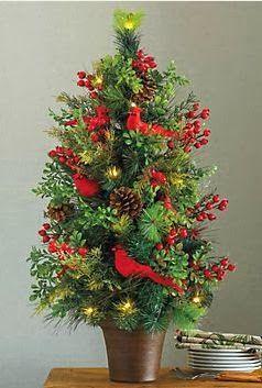 Cardinal Christmas Tree.  Buy your Cardinals Here:  http://www.tonyhill.net/artificialcardinals.html