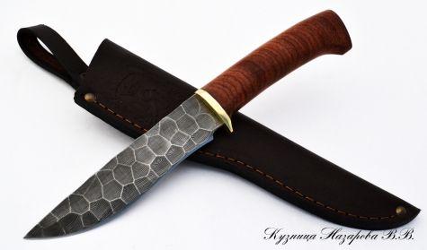 Нож Варан из дамасской стали (полный камень) бубинга