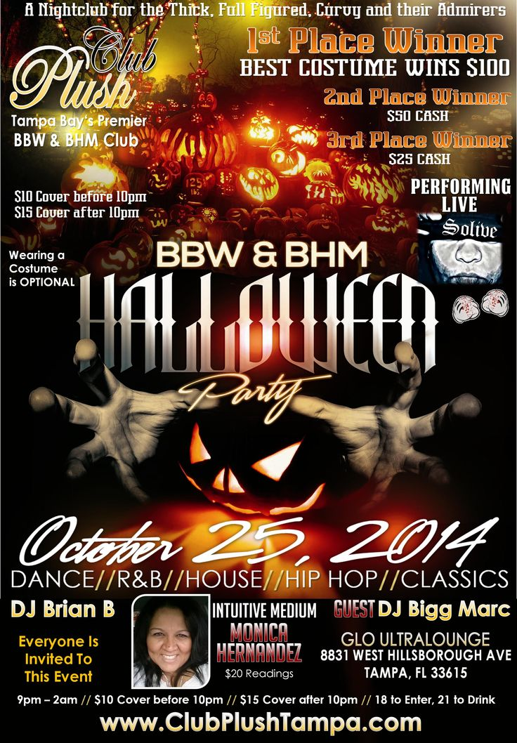 bbw bhm club plush halloween party october 25 2014 tampa fl upcoming plus size events in tampa fl pinterest halloween parties - Halloween Tampa Fl