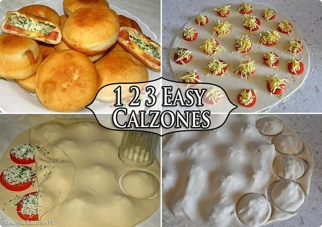 Learn to make Easy Homemade Calzone,  they are a great alternative to pizza for the home chef . :)  Recipe --> http://wonderfuldiy.com/wonderful-diy-easy-homemade-calzone/  More #DIY projects: www.wonderfuldiy.com