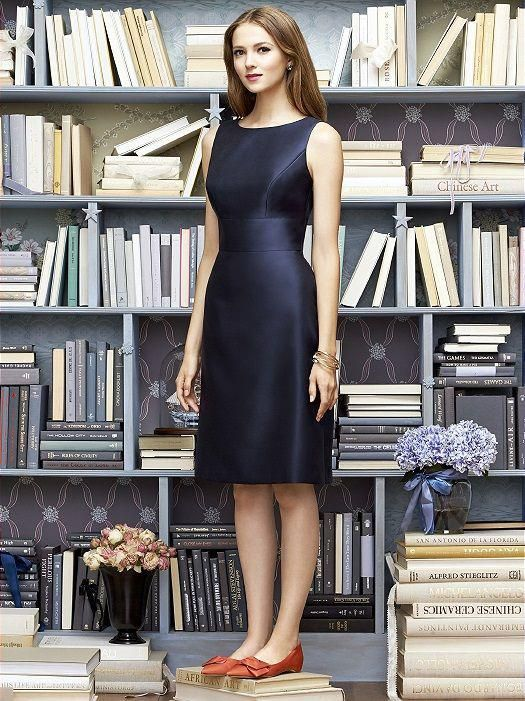 Structure is a girl's best friend.  Flimsy, gauzy fabric and relaxed styling doesn't flatter most shapes. Instead find a dress with sturdier fabric and plenty of internal structure.  This navy dress above would work well on both athletic and curvier, hourglass bodies because of how the bodice is designed.  Slimmer figures will look lovely (think Audrey Hepburn) and bustier pals will have the benefit of an accentuated waist to avoid making them look frumpy.