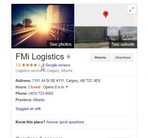 """Logistics service in Calgary, Alberta """