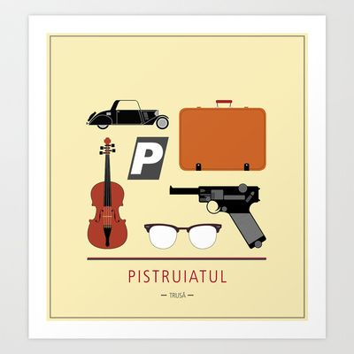 "ROMANIAN MOVIE ""PISTRUIATUL"" Art Print by StudioSotron - $17.68"