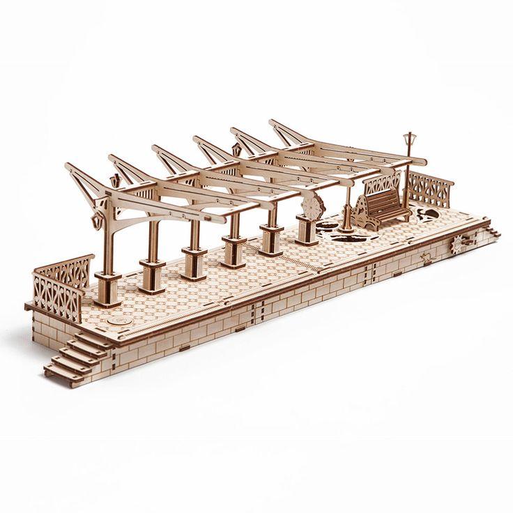 Перрон UGEARS - это механический 3D пазл из дерева. Оригинальный и экологичный конструктор для детей и взрослых.