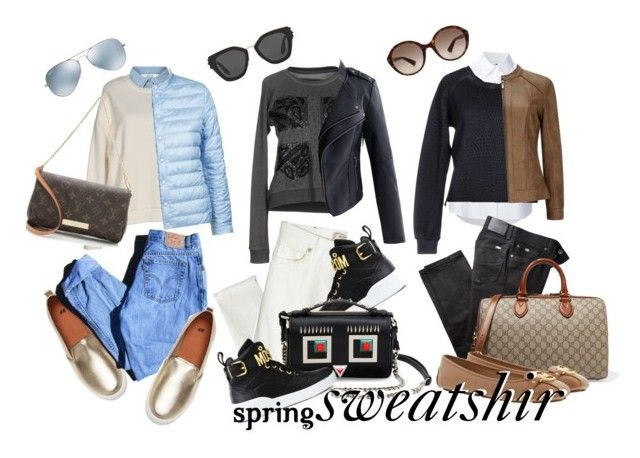 sweatshirt spring 2017 by whyfashionblog on Polyvore featuring polyvore, fashion, style, Pepe Jeans London, Misha Nonoo, Miss Selfridge, Weekend Max Mara, Chicwish, Levi's, BRAX, Etro, Moschino, MICHAEL Michael Kors, Gucci, Fendi, Louis Vuitton, Prada, Ray-Ban and clothing