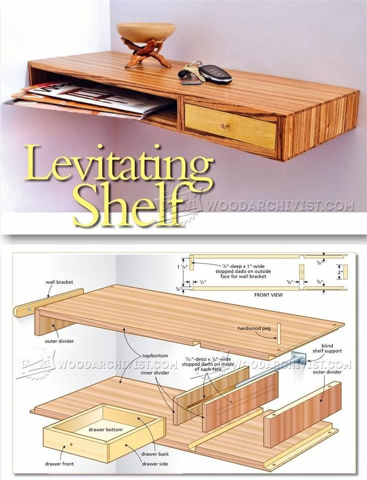 Floating Shelf Plans - Furniture Plans and Projects | WoodArchivist.com