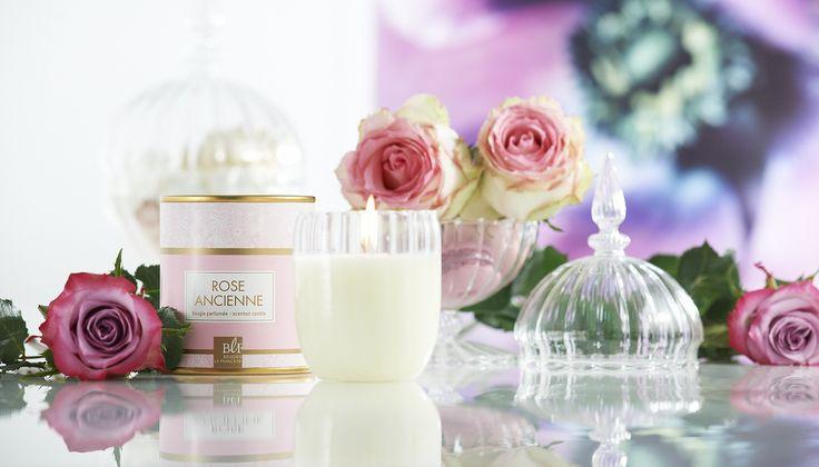 Bougies la Française - Coffret bougie parfumée rose ancienne Boudoir.