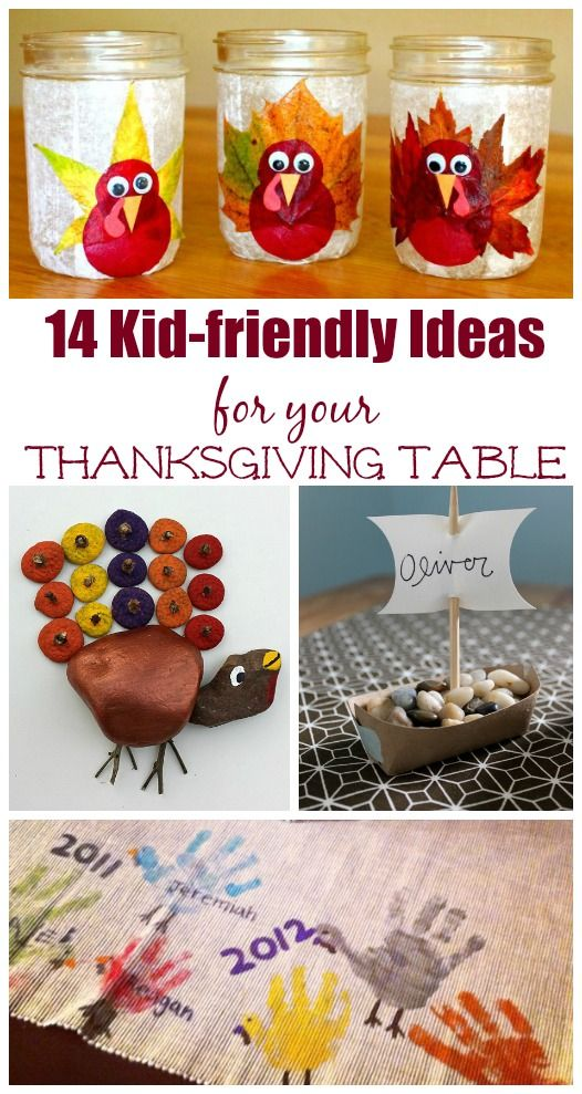 14 Crafts For Your Thanksgiving Table Thanksgiving Crafts