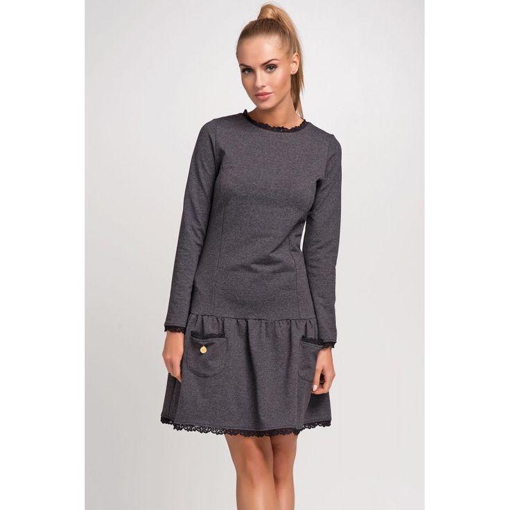 Dámske sivé šaty Makadamia