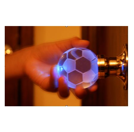 Exceptionnel Install A 7 Color Soccer Ball LED Crystal Door Knob That Illuminates When  Touched!
