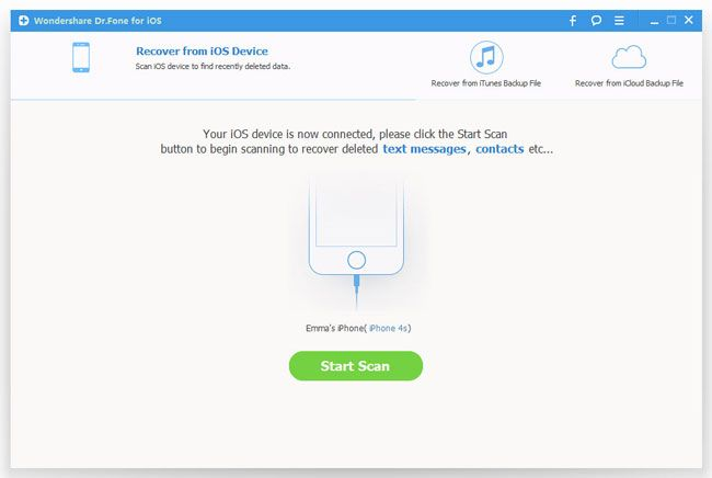 Run iPhone Text Message Recovery