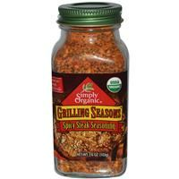 Simply Organic, Grilling Seasons, Spicy Steak Seasoning, 3.6 oz (103 g) - iHerb.com