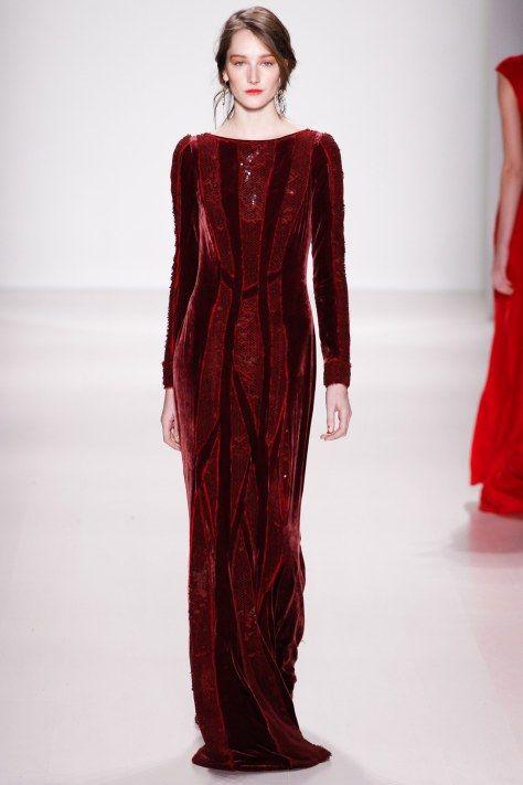 Velvet Dress Tadashi Shoji AW2014