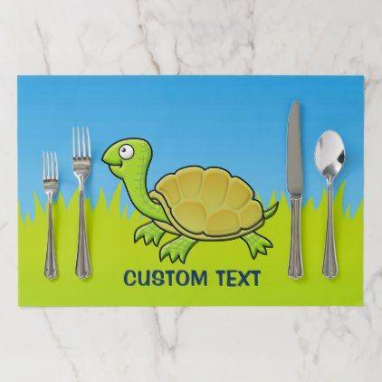 Cartoon Turtle Placemat - home decor design art diy cyo custom