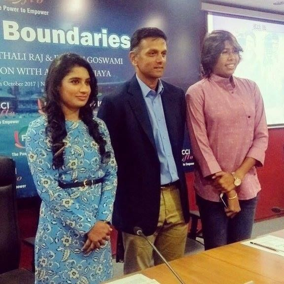 Mithali Raj Rahul Dravid and Jhulan Goswami at an event in Delhi - http://ift.tt/1ZZ3e4d