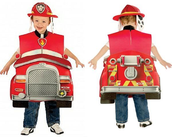 Disfraz Marshall Patrulla Canina coche bombero con casco