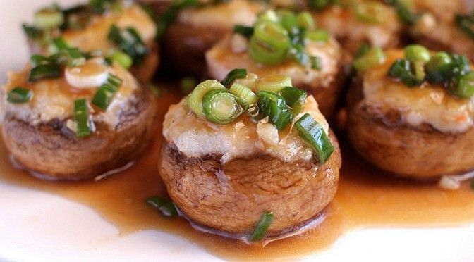 The Best Stuffed Chinese Mushrooms Recipe | Dim Sum Central