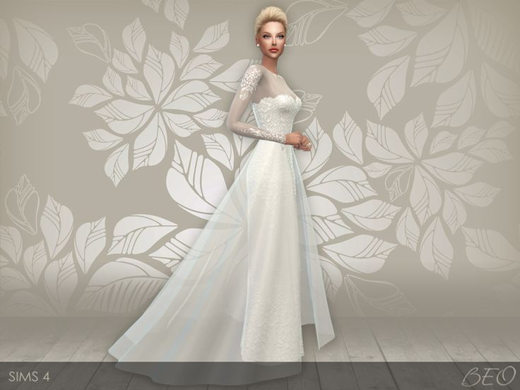 Lana CC Finds - Wedding dress 28 by BEO