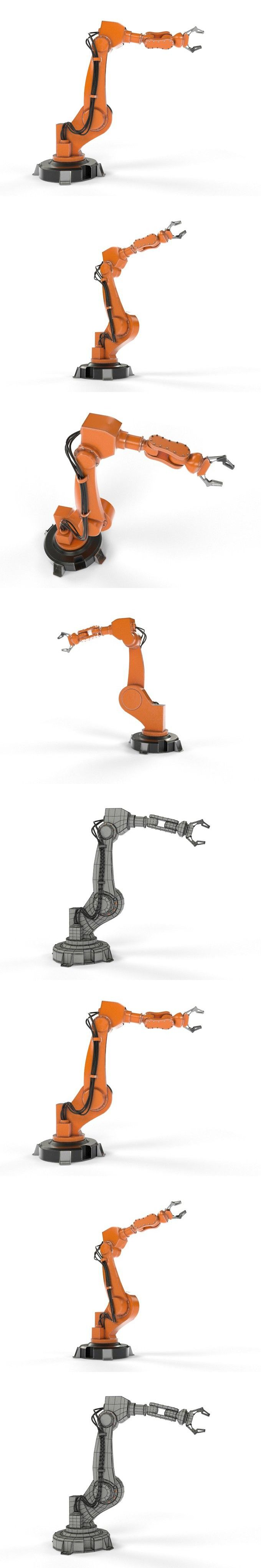 Industrial Robot Arm. 3D Objects