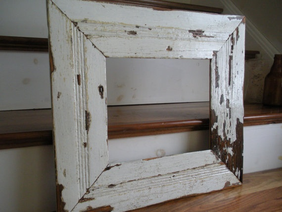 Reclaimed distressed picture frames