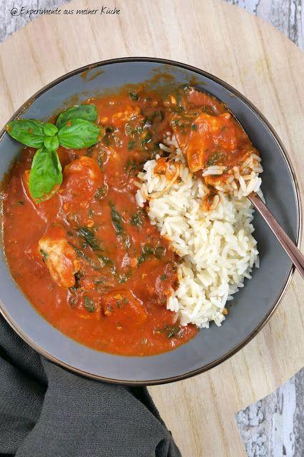 Hühnchen Toskana mit Spinat | Kochen | Essen | Rezept | Weight Watchers   – Experimente aus meiner Küche