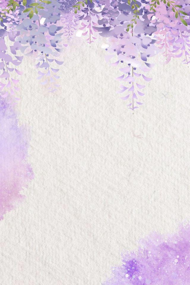 Purple Watercolor Literary Flowers In 2020 Watercolor Flower