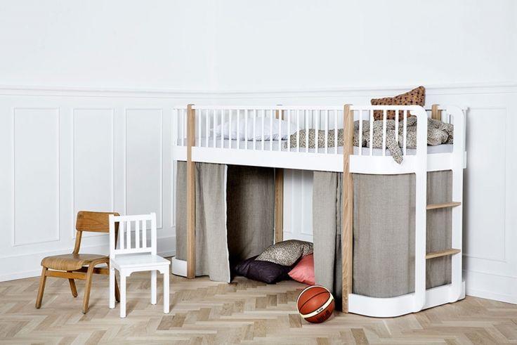 Oliver Furniture Wood Halbhochbett 90 x 200 cm, Eiche / weiß, EUR 1.279,00